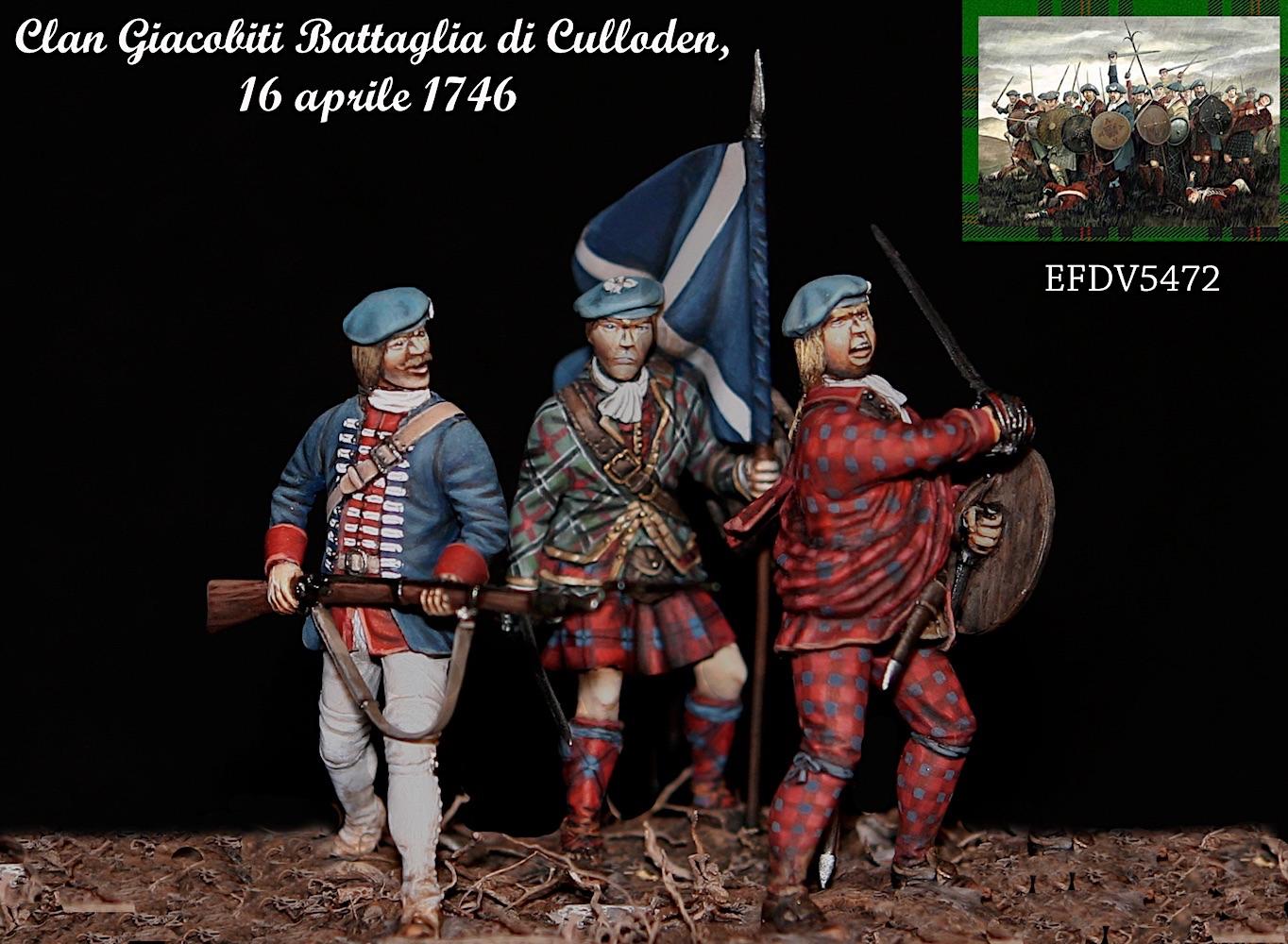 Clan Giacobiti Battaglia di Culloden  16 aprile 1746